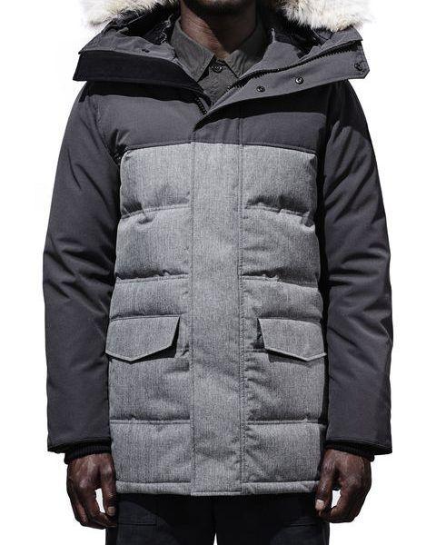 CANADA GOOSE CLARENCE COAT BLACK LABEL herre – Grey Flannel