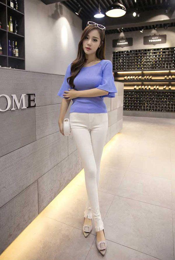 Fashion Celana Panjang Wanita Import Bahan Katun Stretch B2909