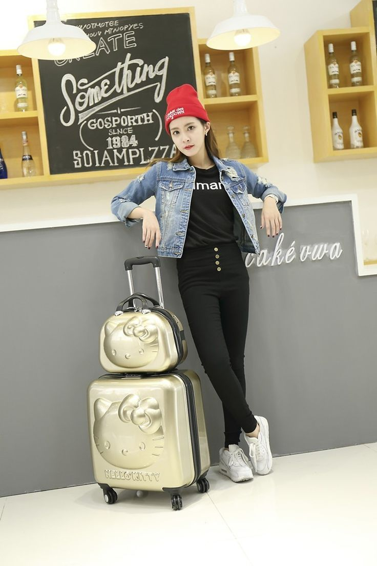 """SELLING POINT  Products: 18"""" suitcase12"""" Cosmetic bag  Material: ABS  Hardcase, Lightweight, Locking, Rolling, Spinner, TSA Approved  SIZE  18 inch: 45cm *42cm * 24cm, 1 person for 1-5 days(suitable for US airline cabin);  12 inch: 32cm *23cm *..."""