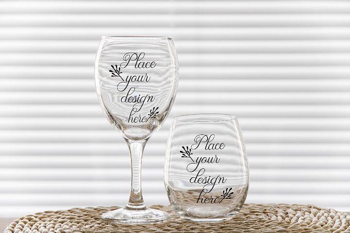 Download Psd Stemless And Wine Glass Mockup 2 Wineglasses Mockups 410064 Mock Ups Design Bundles Stemless Wine Glass Packaging Design Inspiration Mandala Monograms