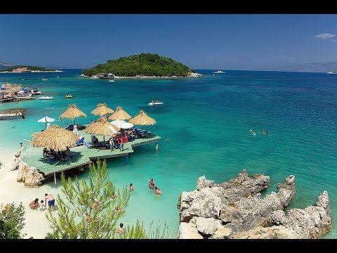 Ksamil - Albania last minute - wczasy autokarem - plaża Bora Bora - YouTube