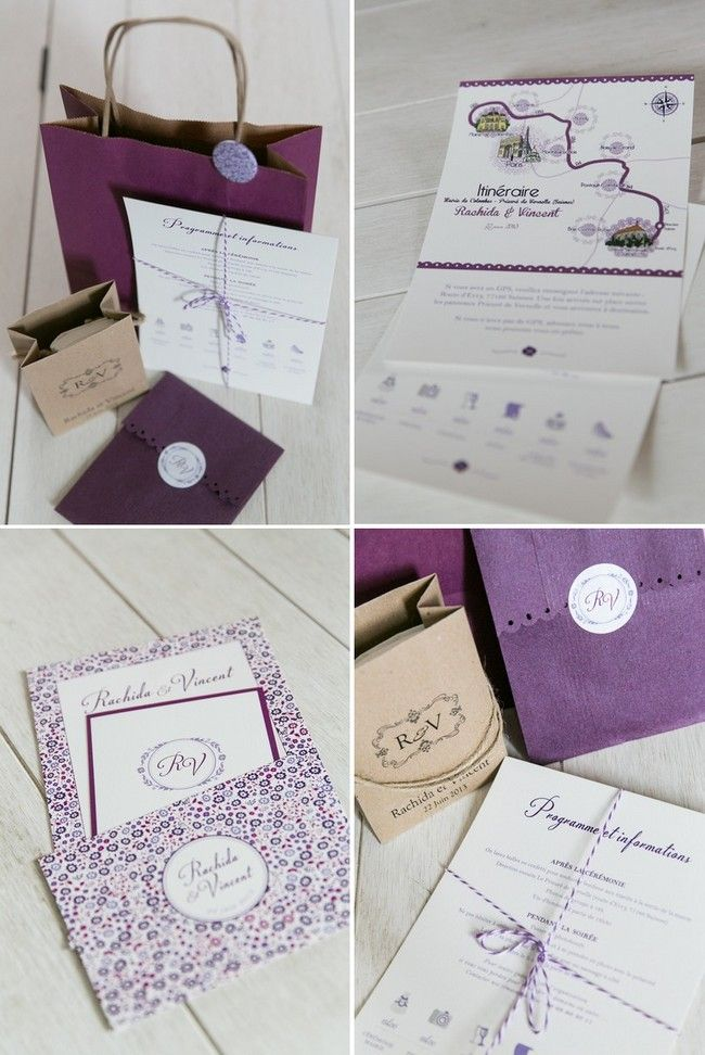 papeterie mariage violet - Studio cabrelli