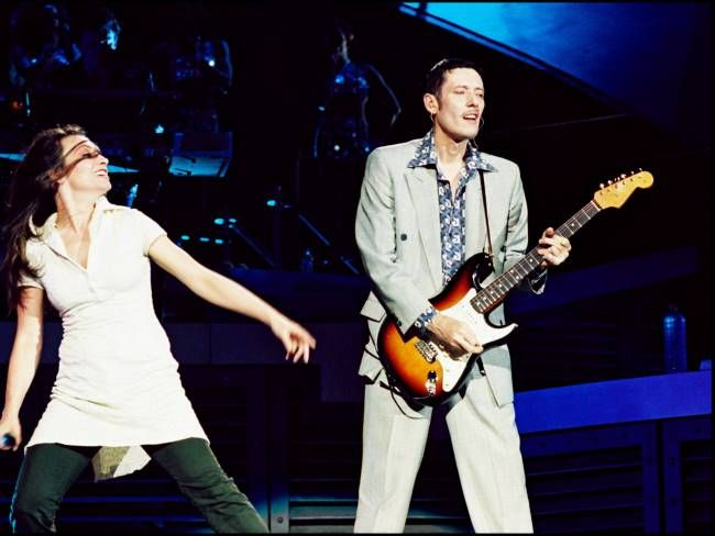 Catherine Ringer et Fred Chichin à Toulouse le 3 juin 2000.