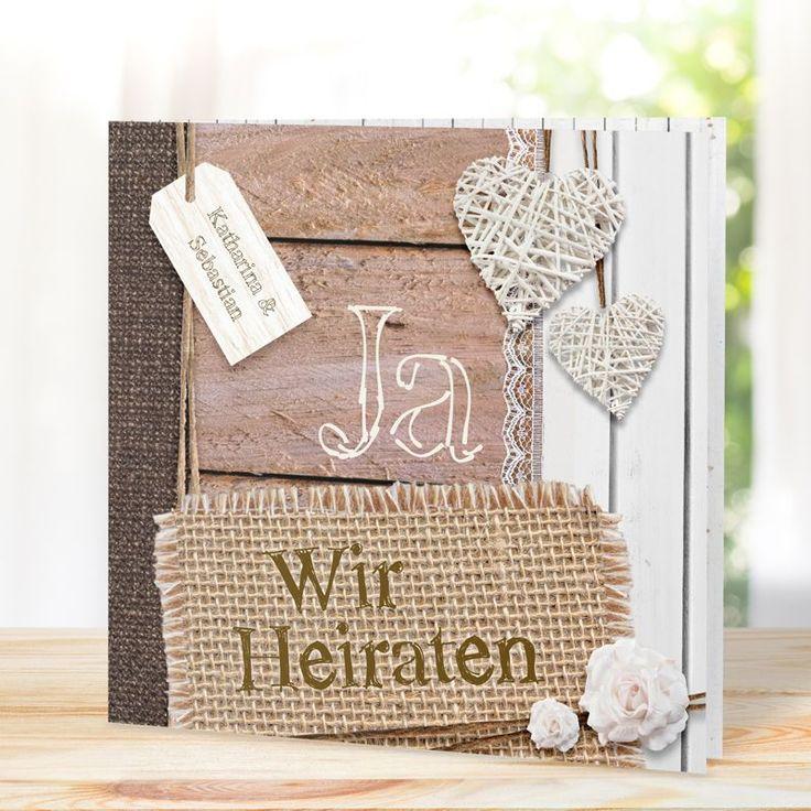 Einladungskarte Hochzeit Landhaus Chic 723073