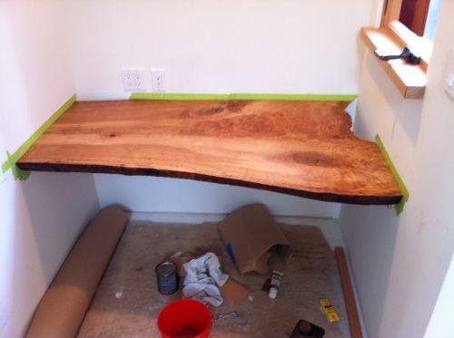built in live edge desk deeds design design inspirations pinterest desks. Black Bedroom Furniture Sets. Home Design Ideas