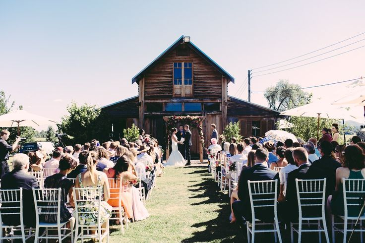 Ceremony at the Sunnybrook Barn at the Sydney Polo Club photography by iledley