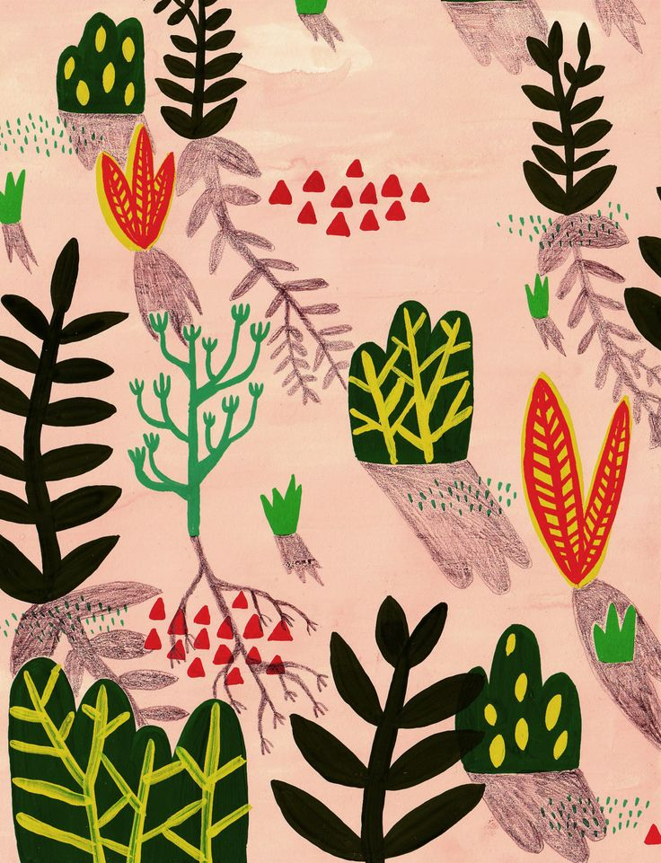 Inspired by Matisse: plants