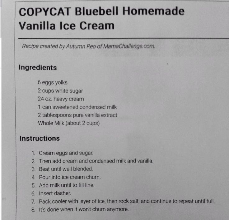 Copycat Blue Bell Homemade Vanilla Ice Cream