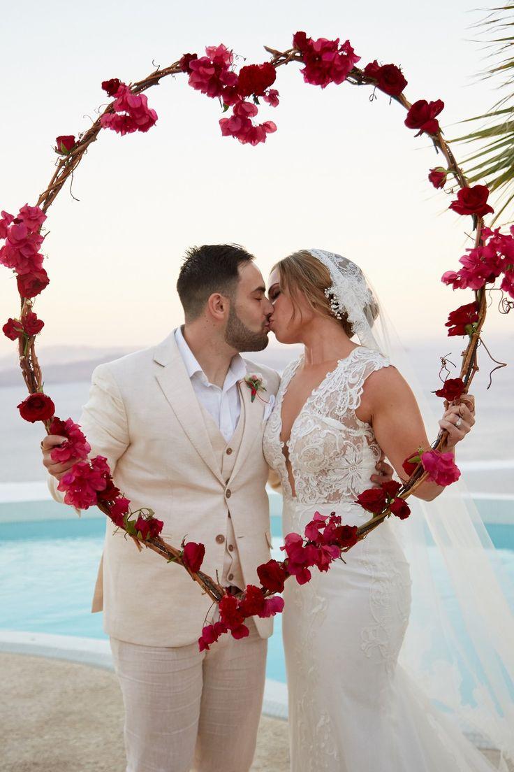 Kisses, In Love, Happy, Joy, Red Roses, Decoration, Caldera View, Venue, Villa, Santorini Weddings
