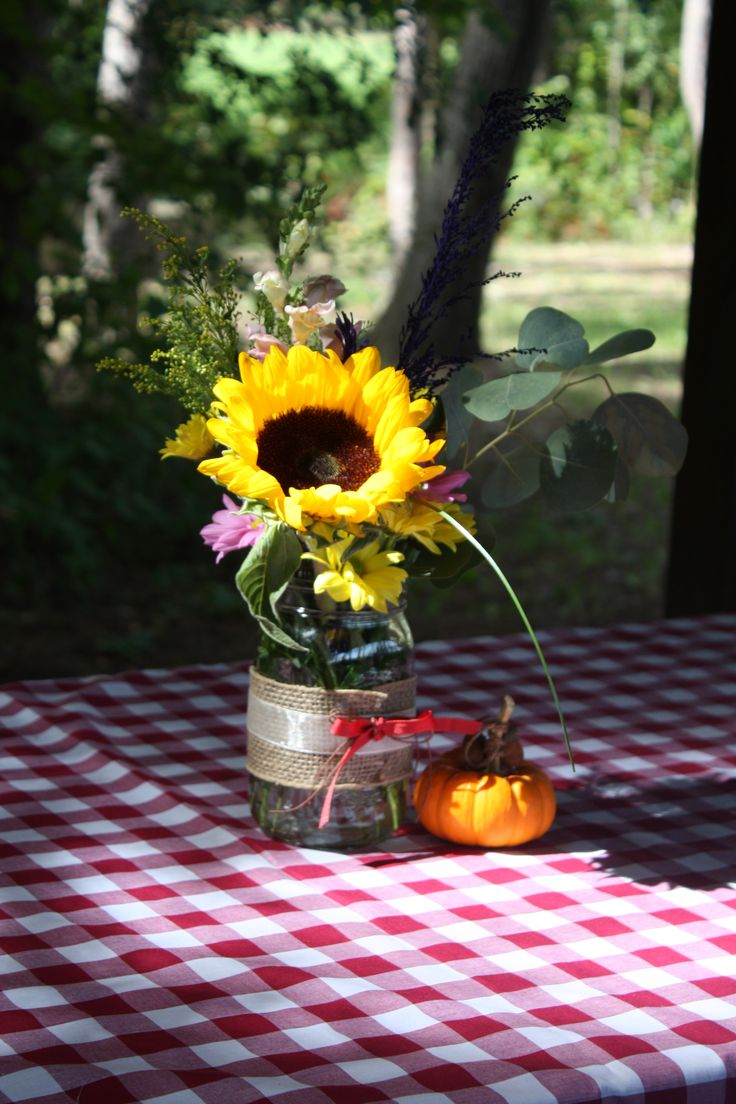 28 Best Fall Mason Jar Table Centerpieces Images On