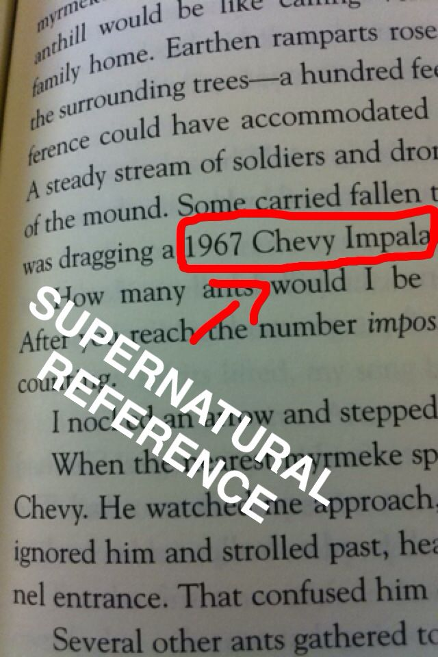 """SUPERNATURAL REFERENCE IN RICK RIORDAN'S BOOK """"THE TRIALS OF APOLLO"""" ON PAGE 255"""