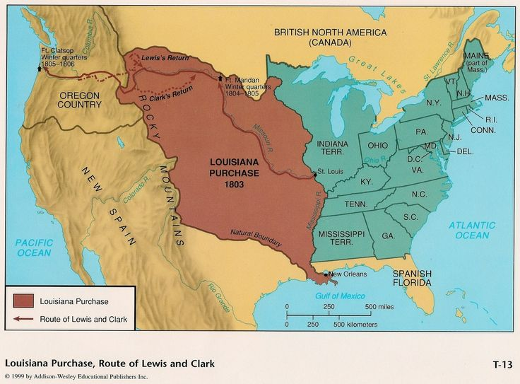 This is a map of the land mass that the United States gained from