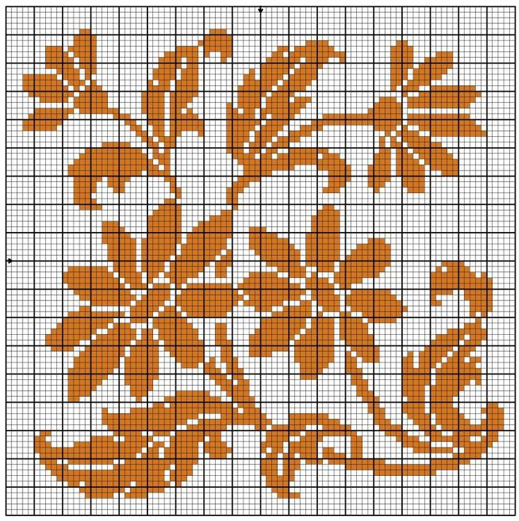 121 best flower cross stitch images on Pinterest Crafts - cross stitch graph paper