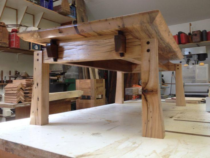Japanese style salvaged barn wood coffee table.