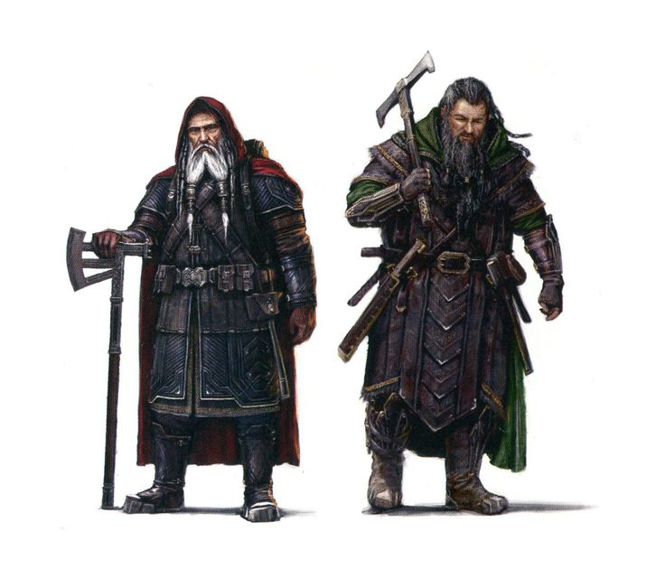 Concept art for Balin & Dwalin