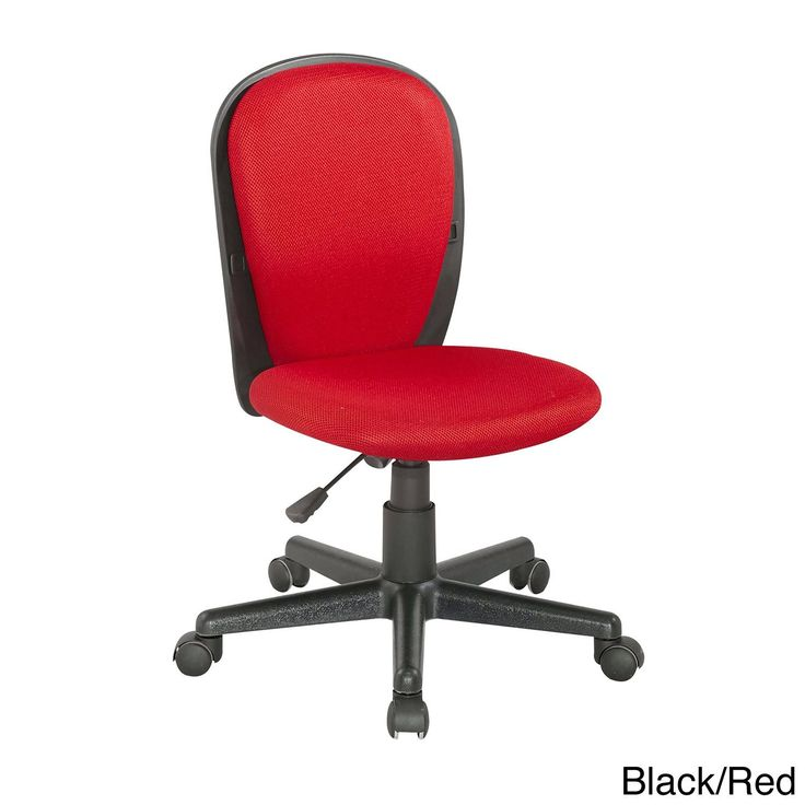 Somette Two-tone Fabric-covered Youth Desk Chair (Black/Red)