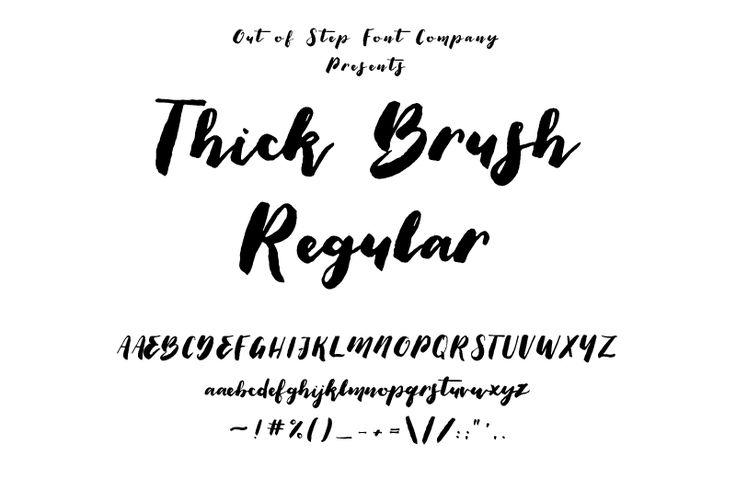 Download Thick Brush Font   dafont.com   Brush font