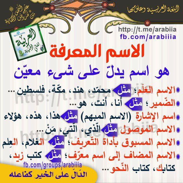 Pin By Soso On فوائد نحوي ة Arabic Language Arabic Language