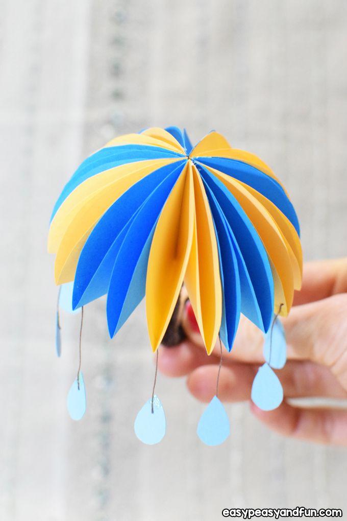 How To Make Paper Umbrellas Easy Peasy And Fun Umbrella Craft