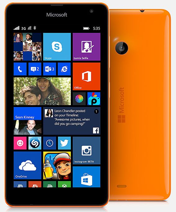 Microsoft Lumia 535 -Ends Nokia's Era in Smartphones! microsoft lumia 535,lumia 535,microsoft mobile without nokia brand,microsoft first smartphone,nokia smartphones era ends,Windows Phone 8.1,5x5x5,lumia 535