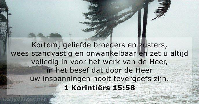 1 Korintiërs 15:58 - dailyverses.net