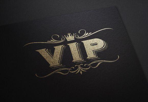 VIP Stock Logo by potterDesigns on Creative Market