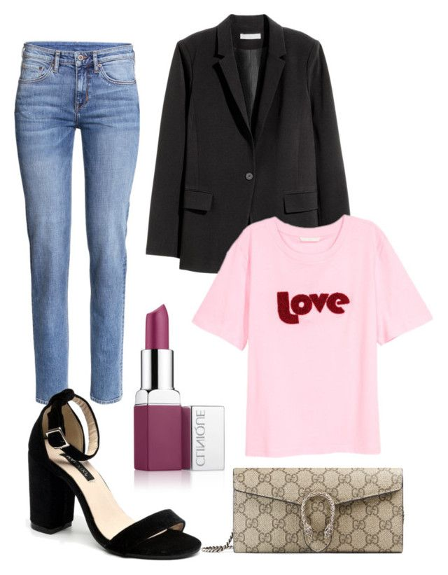 """""""Untitled #201"""" by stinasolheim on Polyvore featuring Clinique, H&M and Gucci"""