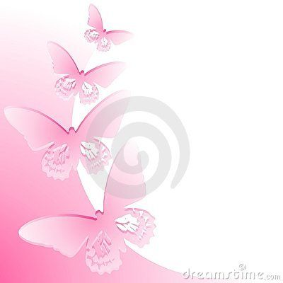 Pink butterfly borders - photo#23
