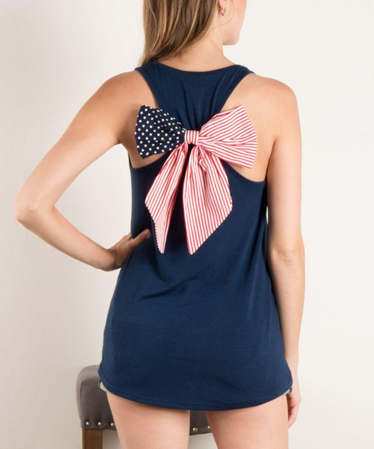 Look at this #zulilyfind! Fashionomics Navy Flag-Bow Tank Dress by Fashionomics #zulilyfinds