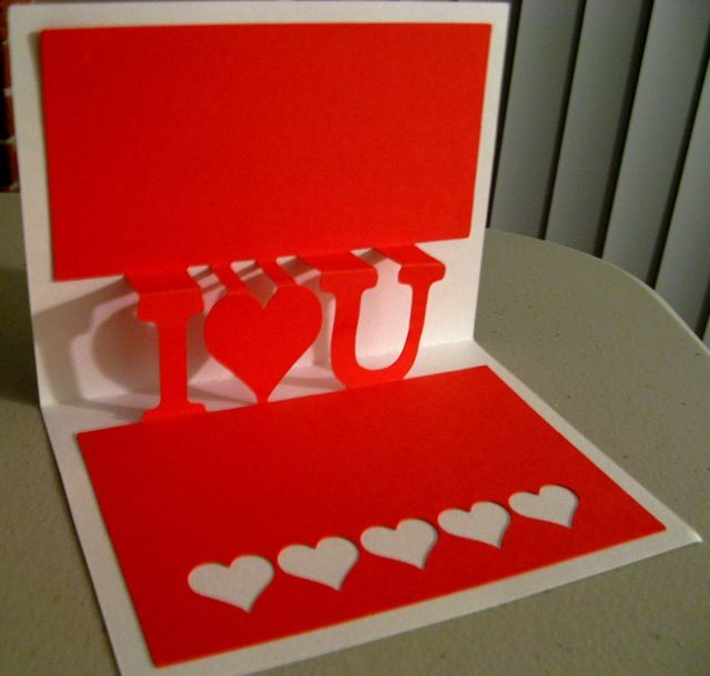Making pop-up card on the Cricut