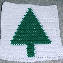 Christmas Tree Afghan Square | AllFreeCrochetAfghanPatterns.com