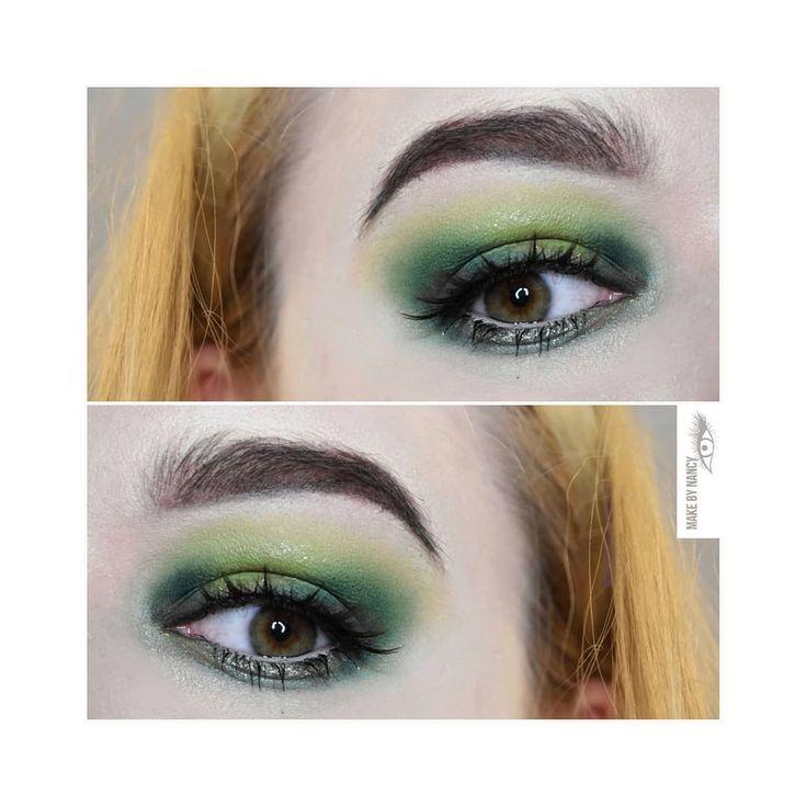 Eyes: KIKO Milano Eyeshadows, MAC lashes, NYX gel eyeliner   Brows: NYX Brow-liner  #makeup #mua #makeupfreak #makeuplove #makijaz #makeupartist #beautiful #beauty #greenmakeup #greeneyeshadow #greeneyeshadows #spotlight #spotlightmakeup #likeit #follow #followme