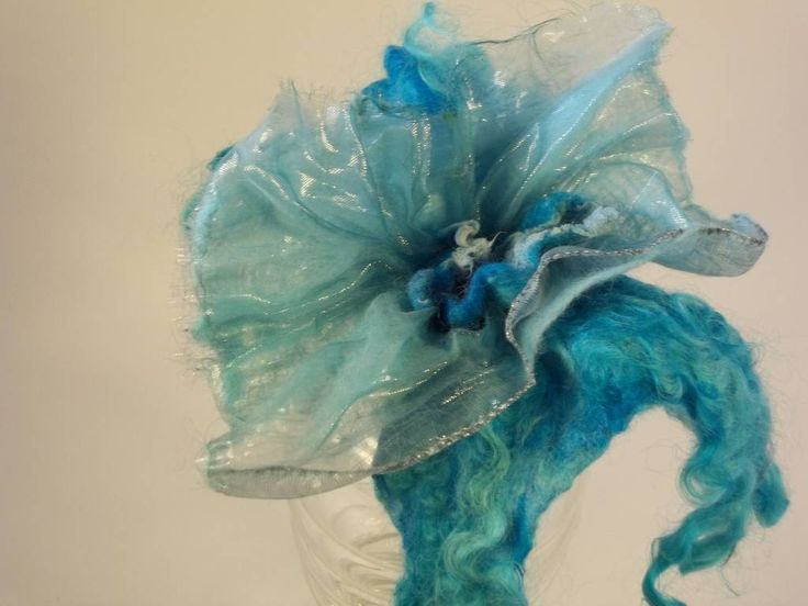 Flower made by felt and fabrics