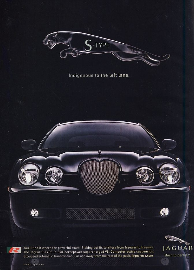 Jaguar S-Type R.  400 bhp at 6100 rpm and 408 lb.-ft. of torque at 3500 rpm - One Fast Cat!