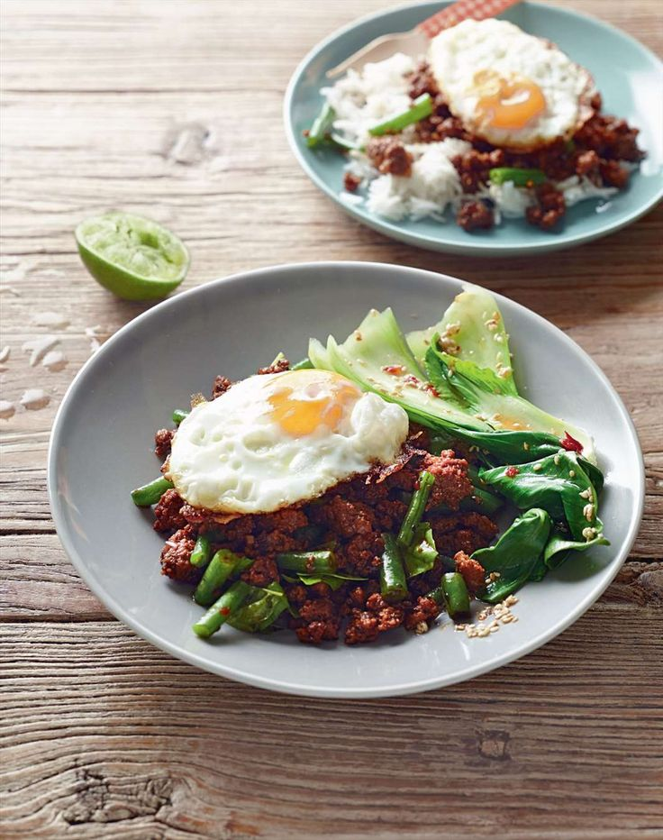 Thai pork and fried egg by Jane Kennedy from One Dish Two Ways | Cooked