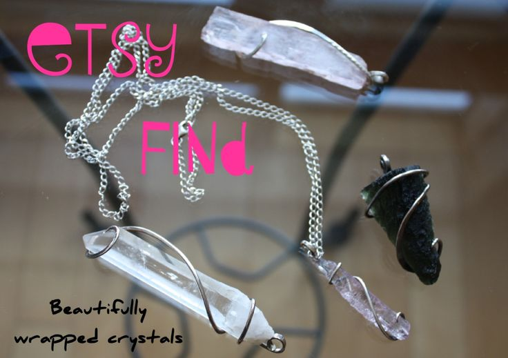 I found gorgeous silver wrapped crystals on Etsy!