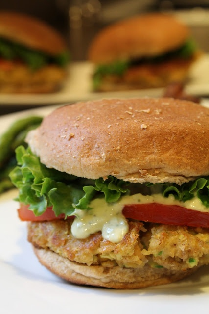 Vegetarian Chick Pea Burgers | recipe from Simply Whole Kitchen