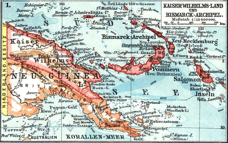 1885 German occupation of Bougainville and Papua New Guinea