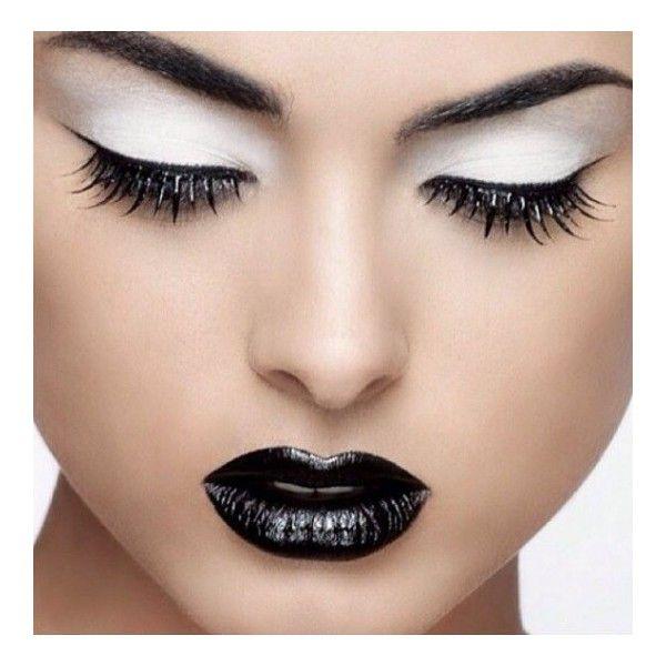 Trucco dark con ombretto bianco ❤ liked on Polyvore