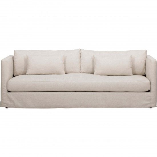Lucinda Grand Slipcover Sofa Duet Natural Contemporary Couches