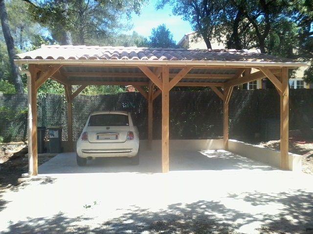 Carport Double Toiture Tuiles Abri Camping Car Toiture Tuile Garage Camping Car