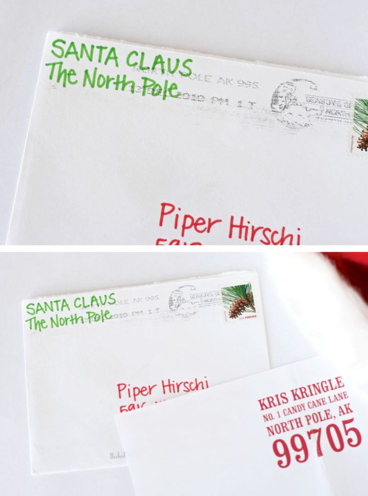 Get a Santa Letter with real North Pole Postmark instructions on PagingSupermom.com #santa #santaletter #northpole #postmark #christmas