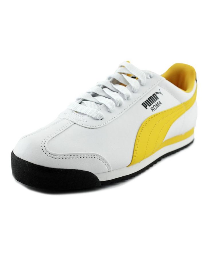 PUMA PUMA ROMA BASIC MEN ROUND TOE SYNTHETIC WHITE WALKING SHOE'. #puma #