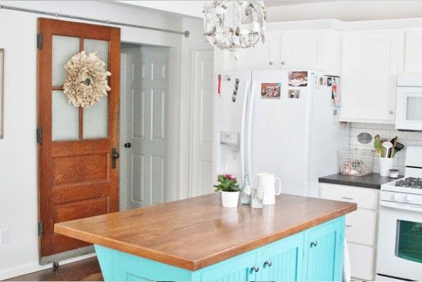 17 best images about barn doors on pinterest pocket - Cocinas estilo shabby chic ...