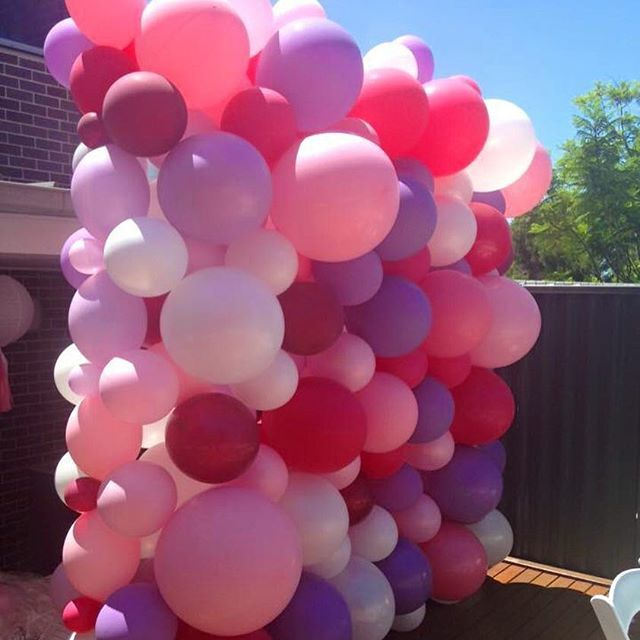 The 25 best balloon wall ideas on pinterest baloon for Balloon backdrop decoration