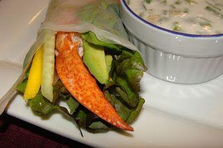 Lili popotte: Rouleaux de printemps au homard sauce coco