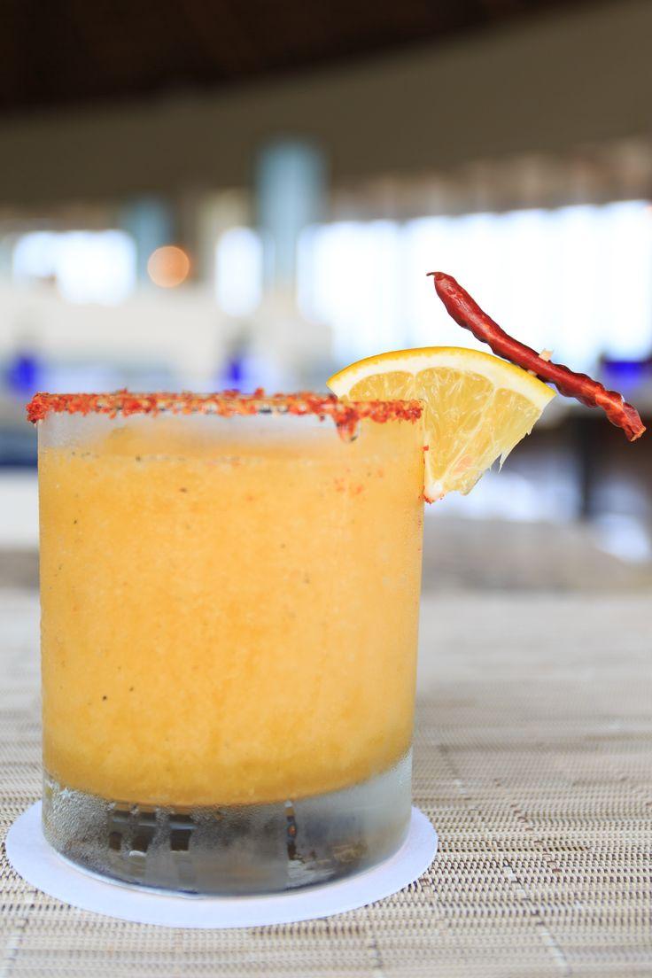 Mango #Margarita Cocktail at #AzulRestaurant, Grand Velas Riviera Maya. #GVRivieraMaya #GrandVelas #VelasResorts