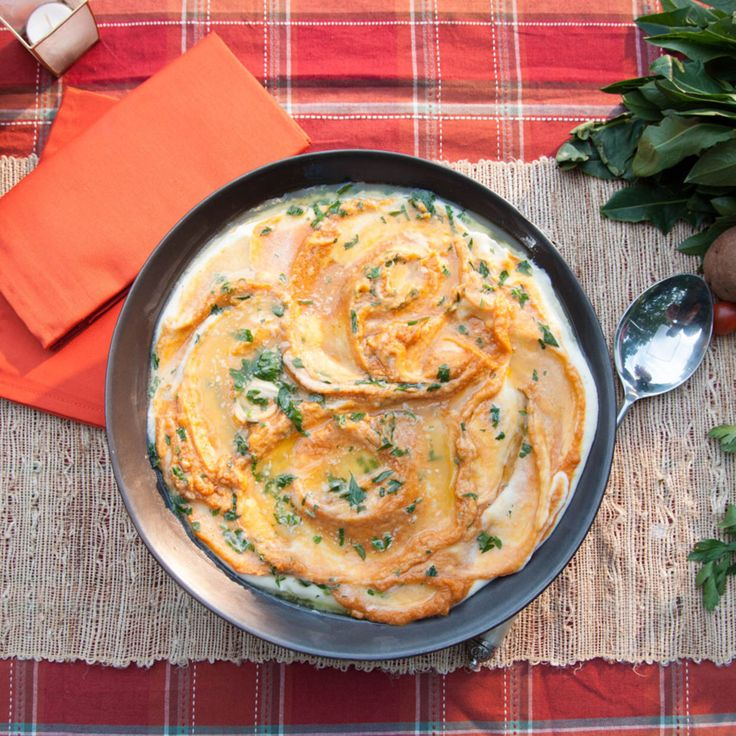 Mashed White and Sweet Potatoes with Parsley Butter ...