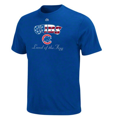 Chicago Cubs Royal Majestic Glory To The Team T-Shirt