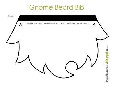 Gnome Beard Bib FREE Pattern
